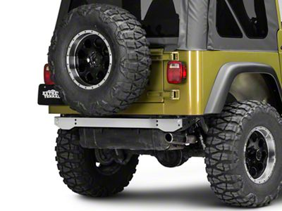 Rugged Ridge Rear Frame Crossmember Cover - Stainless Steel (97-06 Jeep Wrangler TJ)