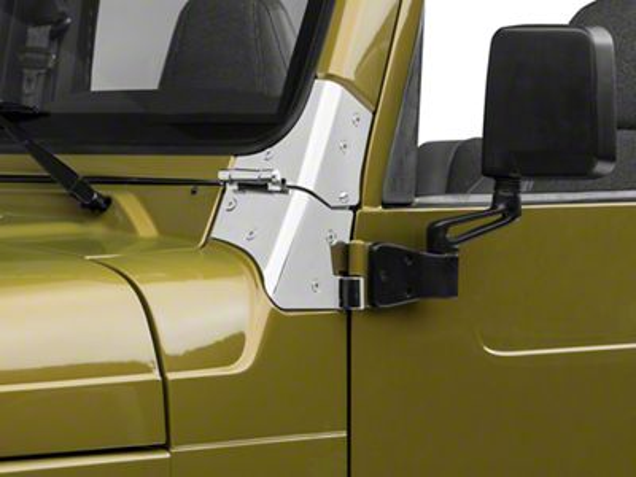 Rugged Ridge Stainless Steel Windshield Hinges (97-06 Jeep Wrangler TJ)