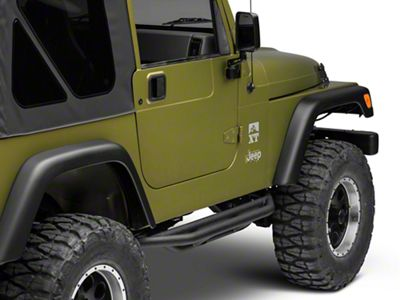 Rugged Ridge Rock Crawler Side Armor - Textured Black (87-06 Jeep Wrangler YJ & TJ)