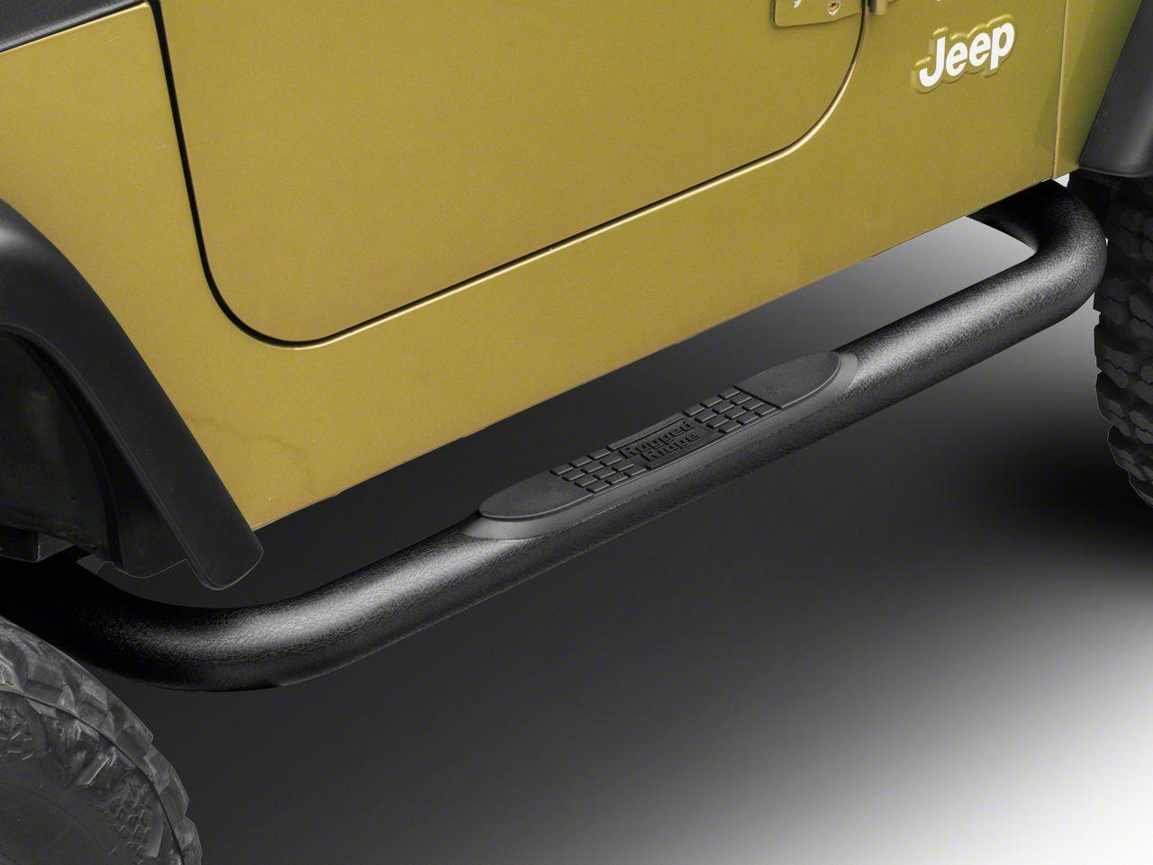 Rugged Ridge Side Step Bars - Textured Black (97-06 Jeep Wrangler TJ)