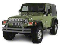 Rugged Ridge Tubular Front Bumper w/ Winch Cutout - Titanium (87-06 Jeep Wrangler YJ & TJ)
