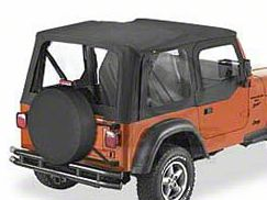 Bestop Sailcloth Replace-A-Top w/ Clear Windows - Black Vinyl (97-02 Jeep Wrangler TJ w/ Steel Half Doors)