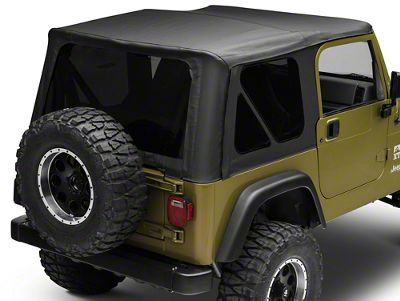 Bestop Sailcloth Replace-A-Top w/ Tinted Windows - Black Vinyl (97-02 Jeep Wrangler TJ w/ Full Steel Doors)