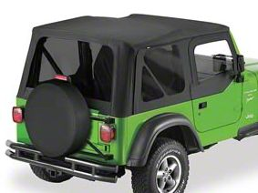 Bestop Sailcloth Replace-A-Top w/ Tinted Windows - Black Diamond (03-06 Jeep Wrangler TJ w/Half Doors)