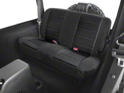 Rugged Ridge Rear Fabric Seat Cover - Black (97-02 Jeep Wrangler TJ)