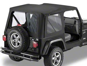 Bestop Replace-A-Top w/ Clear Windows - Black Denim (97-02 Jeep Wrangler TJ w/ Full Doors)