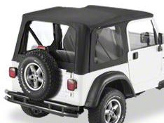 Bestop Replace-A-Top w/ Clear Windows - Black Diamond (03-06 Jeep Wrangler TJ w/ Full Steel Door)