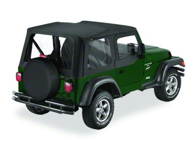 Bestop Replace-A-Top w/ Clear Windows - Black Diamond (03-06 Jeep Wrangler TJ w/ Half Steel Door)