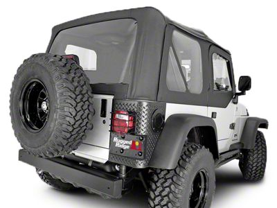 Rugged Ridge Soft Top w/ Tinted Windows & Door Skins - Black Diamond (03-06 Jeep Wrangler TJ w/ Factory Soft Top, Excluding Unlimited)