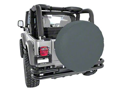 Rugged Ridge Spare Tire Cover for 33 in. Tires - Black Denim (87-19 Jeep Wrangler YJ, TJ, JK & JL)