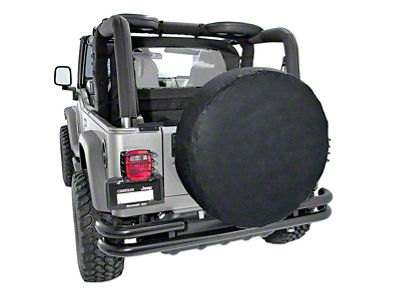 Rugged Ridge Spare Tire Cover for 30-32 in. Tire - Black (87-18 Jeep Wrangler YJ, TJ, JK & JL)