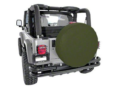 Rugged Ridge Spare Tire Cover for 27-29 in. Tire - Khaki Diamond (87-18 Jeep Wrangler YJ, TJ, JK & JL)
