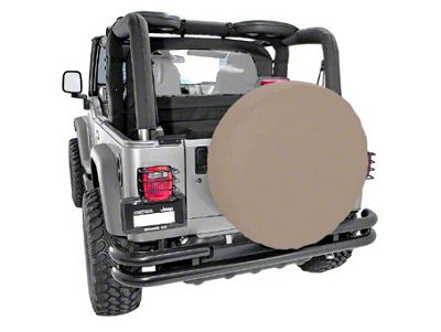Rugged Ridge Spare Tire Cover for 27-29 in. Tire - Spice (87-18 Jeep Wrangler YJ, TJ, JK & JL)