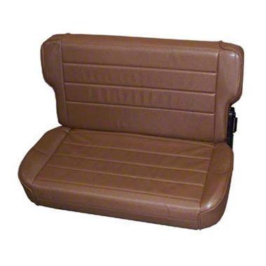 Smittybilt Rear Fold & Tumble Seat - Spice Denim (87-95 Jeep Wrangler YJ)