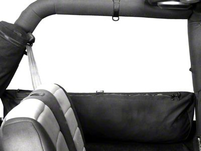 Rugged Ridge Sport Bar Mounted Trail Bag - Canvas Storage Bag (92-06 Jeep Wrangler YJ & TJ, 07-18 JK 2 Door)