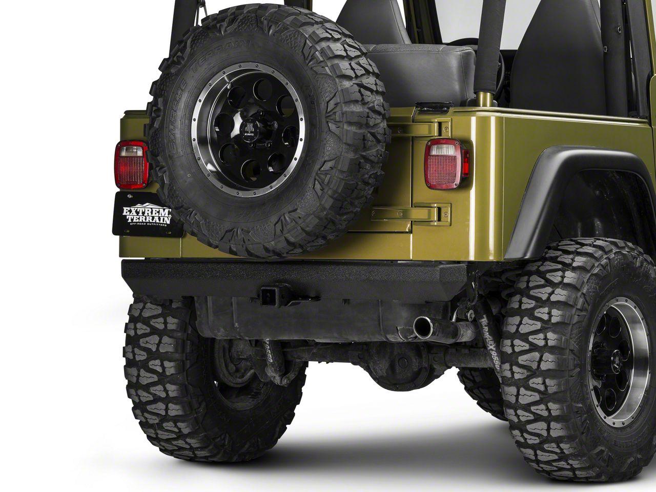 Smittybilt SRC Classic Rock Crawler Rear Bumper (87-06 Jeep Wrangler YJ & TJ)