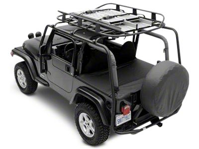Smittybilt SRC Roof Rack - 300 lb. Rating - Black Textured (07-18 Jeep Wrangler JK 2 Door)