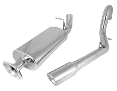 Rugged Ridge Stainless Steel Cat-Back Exhaust (00-06 2.4L, 2.5L or 4.0L Jeep Wrangler TJ, Excluding Unlimited)