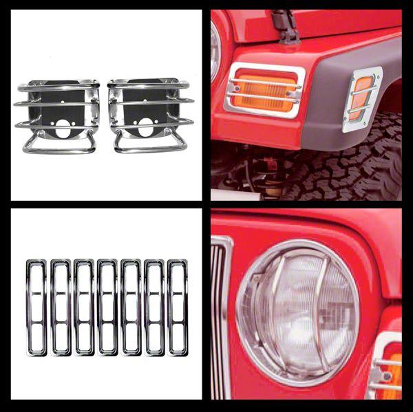 Rugged Ridge Stainless Steel 15 pc Euro Guard Light Kit (97-06 Jeep Wrangler TJ)
