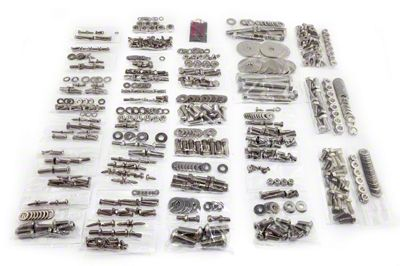 Totally Stainless Fastener Kit - Stainless Steel (87-95 Jeep Wrangler YJ w/ Soft Top)