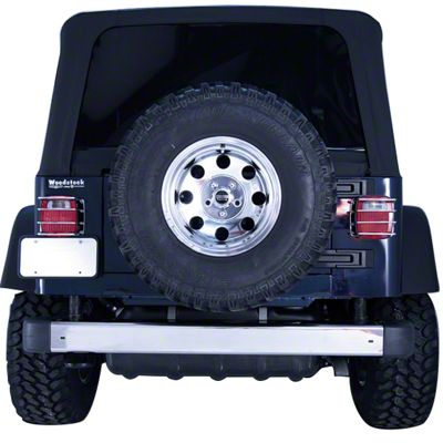 Rugged Ridge Rear Bumper - Stainless Steel (97-06 Jeep Wrangler TJ)