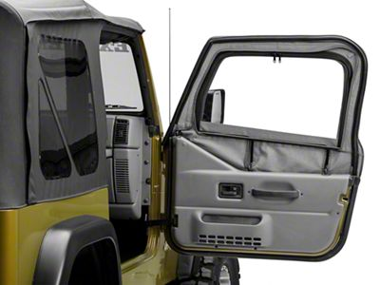Rugged Ridge Steel Upper Door Skin Frames (97-06 Jeep Wrangler TJ w/ Soft Top, Excluding Unlimited)