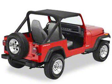 Bestop Targa Style Strapless Bikini Top - Black (87-91 Jeep Wrangler YJ)