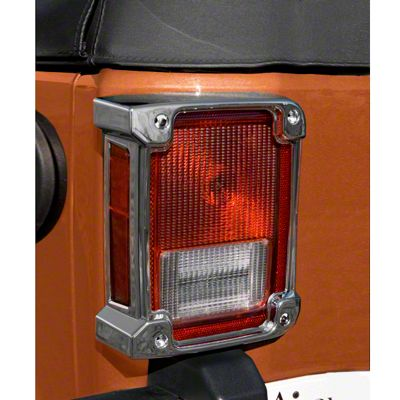 Rugged Ridge Tail Light Covers - Chrome (07-18 Jeep Wrangler JK)