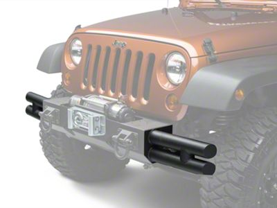 Rugged Ridge Tube Ends for XHD Front Bumper - Textured Black (07-18 Jeep Wrangler JK; 2018 Jeep Wrangler JL)