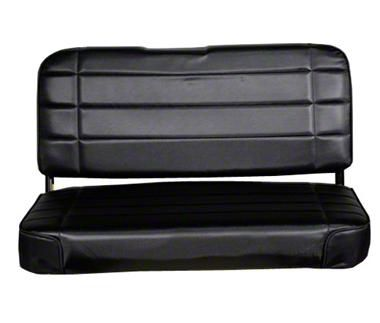 Smittybilt Rear Standard Seat - Traditional Black (87-95 Jeep Wrangler YJ)