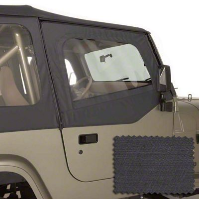 Rugged Ridge Upper Soft Door Kit - Black Denim (88-95 Jeep Wrangler YJ)