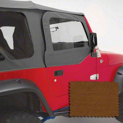 Rugged Ridge Upper Soft Door Kit - Dark Tan (97-06 Jeep Wrangler TJ w/ Factory Soft Top)