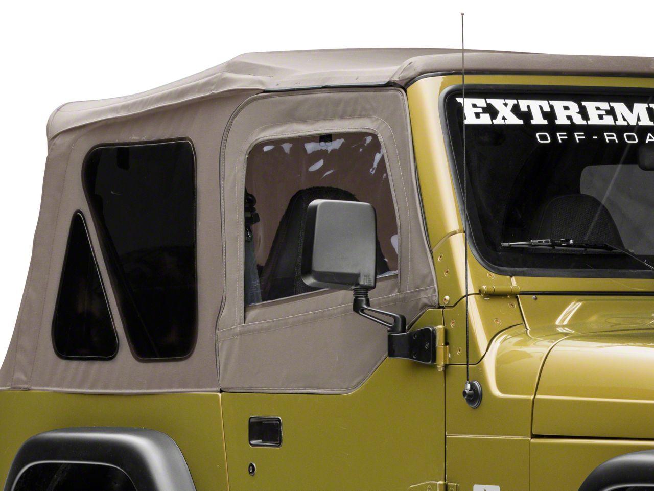 Rugged Ridge Upper Soft Door Kit - Khaki Denim (97-06 Jeep Wrangler TJ w/ Factory Soft Top)