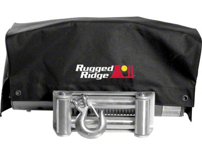 Rugged Ridge 8,500 lb. or 10,500 lb. Winch Cover (87-19 Jeep Wrangler YJ, TJ, JK & JL)