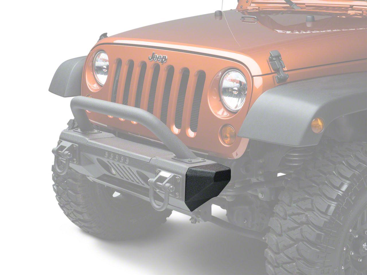 Rugged Ridge XHD Aluminum Front Bumper Ends (07-18 Jeep Wrangler JK; 2018 Jeep Wrangler JL)