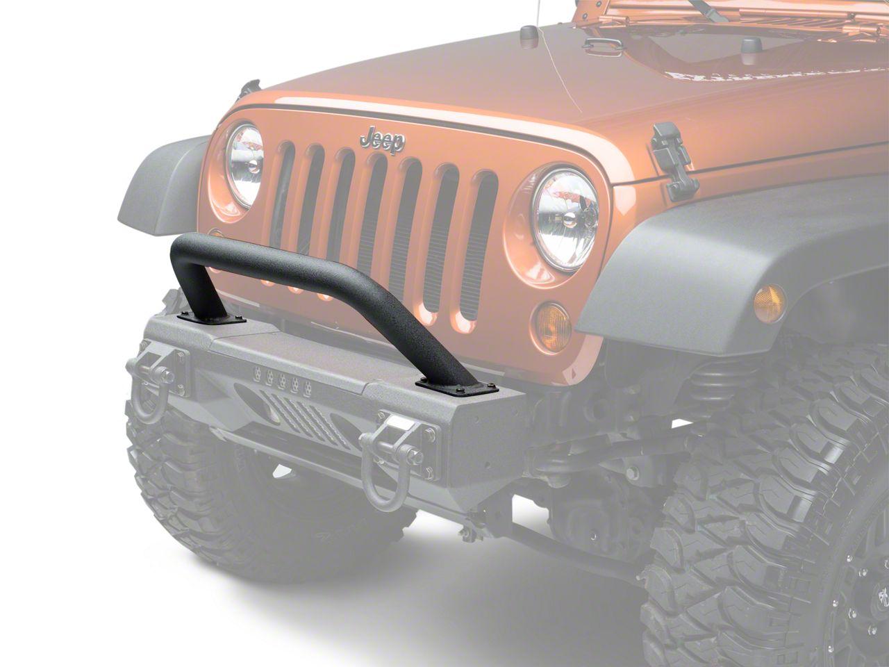 Rugged Ridge XHD Aluminum Front Bumper Overrider (07-18 Jeep Wrangler JK; 2018 Jeep Wrangler JL)