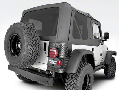 Rugged Ridge XHD Soft Top w/ Tinted Windows & Door Skins - Black Vinyl (97-06 Jeep Wrangler TJ w/ Factory Soft Top, Excluding Unlimited)