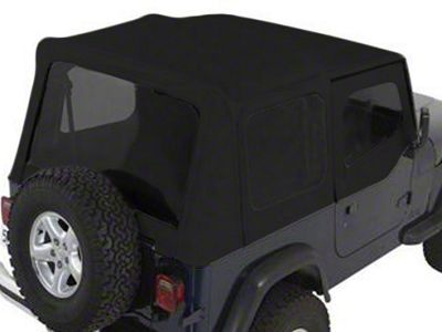 Rugged Ridge XHD Soft Top w/ Tinted Windows & Door Skins - Black Denim (88-95 Jeep Wrangler YJ w/ Factory Soft Top)