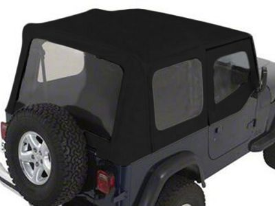 Rugged Ridge XHD Soft Top w/ Clear Windows & Door Skins - Black Denim (88-95 Jeep Wrangler YJ w/ Factory Soft Top)