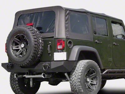 Rugged Ridge XHD Replacement Soft Top Sailcloth Black Diamond w/ Tinted Windows (07-09 Jeep Wrangler JK 4 Door)