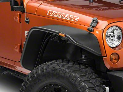 Bushwacker Flat Style Flare Kit, 4 Pieces (07-18 Jeep Wrangler JK 2 Door)