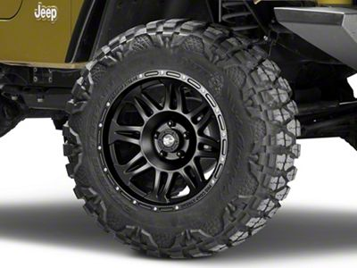 Pro Comp Wheels Series 7005 Black Wheel - 17x9 (87-06 Jeep Wrangler YJ & TJ)