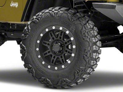 Pro Comp Series 7031 Flat Black Wheel - 16x8 (87-06 Jeep Wrangler YJ & TJ)