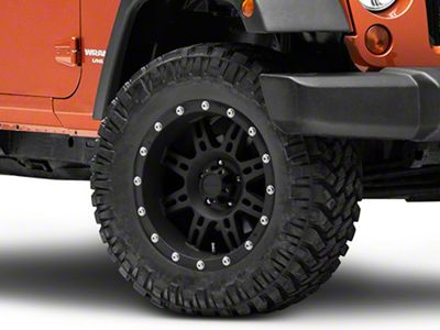 Pro Comp Alloy Series 7031 Flat Black Wheel - 18x9 (07-18 Jeep Wrangler JK; 2018 Jeep Wrangler JL)