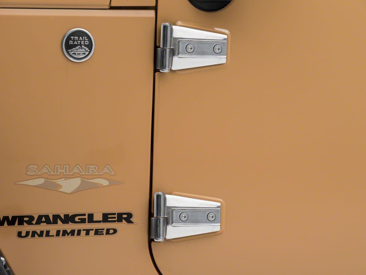 Smittybilt Door Hinges - Stainless Steel (07-18 Jeep Wrangler JK)