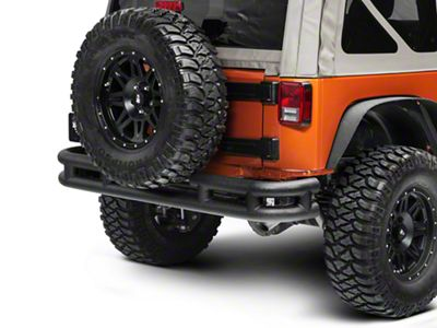Smittybilt Tubular Rear Bumper w/o Hitch - Textured Black (07-18 Jeep Wrangler JK)