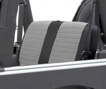 Smittybilt XRC Seat Cover - Rear - Black Sides/ Gray Center (03-06 Jeep Wrangler TJ)