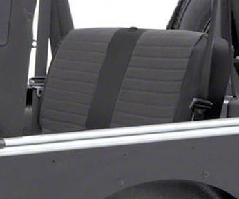 Smittybilt XRC Seat Cover - Rear - Black Sides/ Black Center (03-06 Jeep Wrangler TJ)