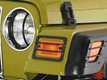 Smittybilt Euro Head Light Guards - Black - 2 Piece (97-06 Jeep Wrangler TJ)