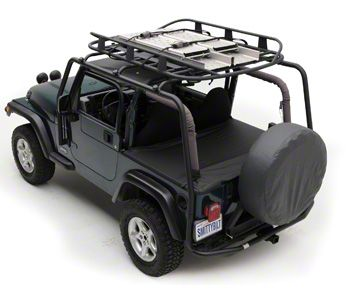 Smittybilt SRC Roof Rack - 300 lb Rating - Black Textured (04-06 Jeep Wrangler TJ Unlimited)